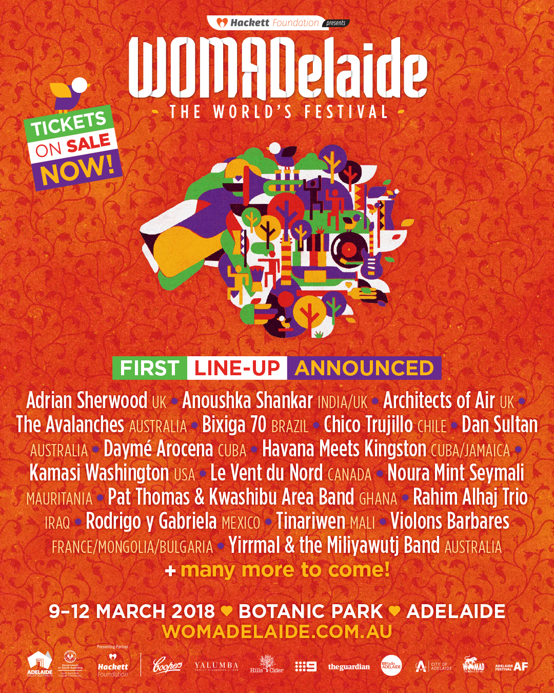 WOMADelaide 2018 - 1st Lineup